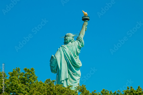 Keuken foto achterwand Historisch mon. The statue of liberty in New York Harbor.