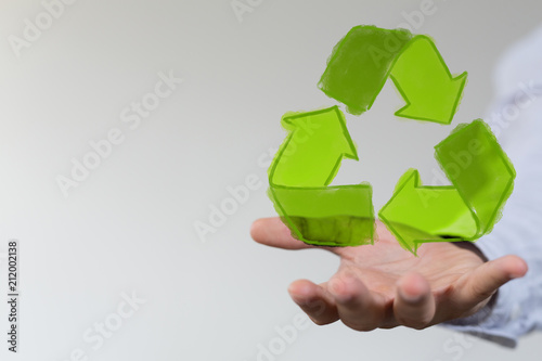 Staande foto Hoogte schaal recycling