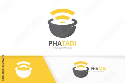 Obraz na płótnie Vector pharmacy and wifi logo combination