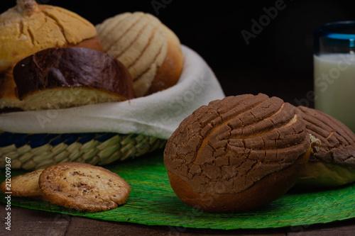 Photographie Pan dulce concha de chocolate