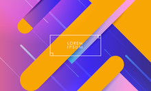 Multicolored Vector Background With Orange Lines And Thin Frame In Middle