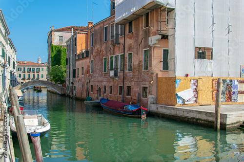 Plakat kanał wodny w Wenecji