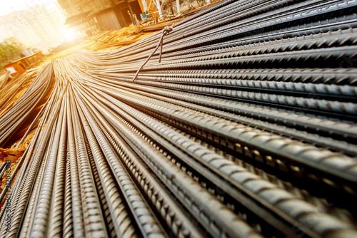 Stampa su Tela Rebar on construction site