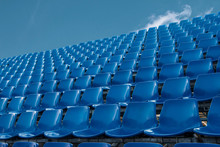 Empty Blue Seat In Football St...