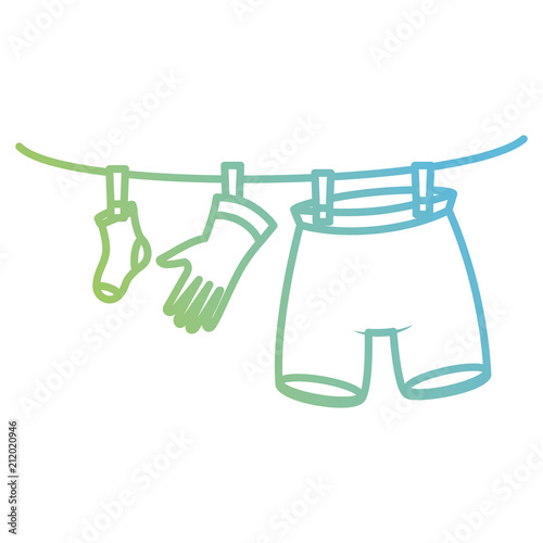 Clothes Drying Wire   Clothes Drying On Wire Buy This Stock Vector And Explore Similar