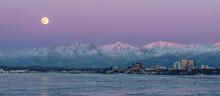 Moonrise Over Anchorage Alaska