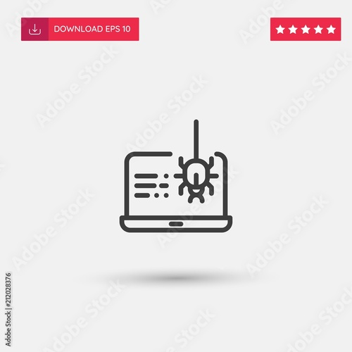 Fotografía  Outline Spyware Icon isolated on grey background