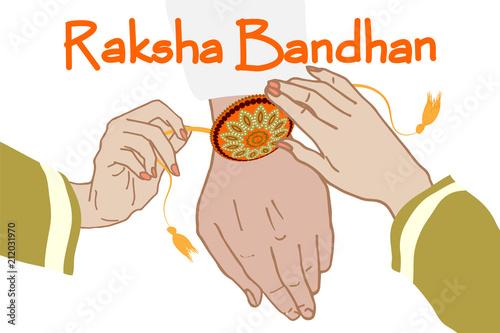Photo  Indian festival Raksha Bandhan