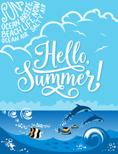 Hello Summer Banner For Summer...