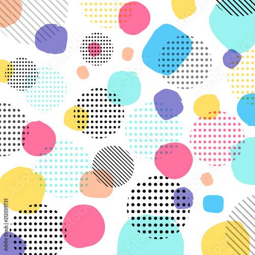 Tapety Geometryczne  streszczenie-nowoczesne-pastele-kolor-czarne-kropki-wzor-z-liniami-po-przekatnej-na-bialym-tle