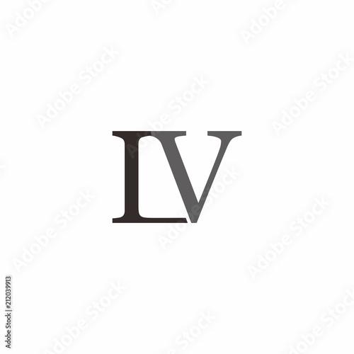 Fotografija  L V Letter Logo Vector