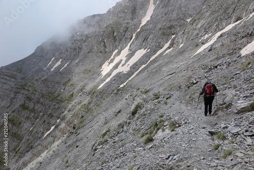 Foto op Canvas Alpinisme bergsteigen zum berg olymp über zonaria