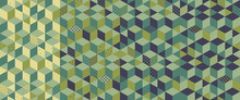 3d Blocks Structure Background. Seamless Pattern. Abstract Vector Illustration.