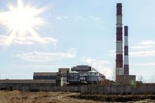 Factory Chimneys Pollution. In...