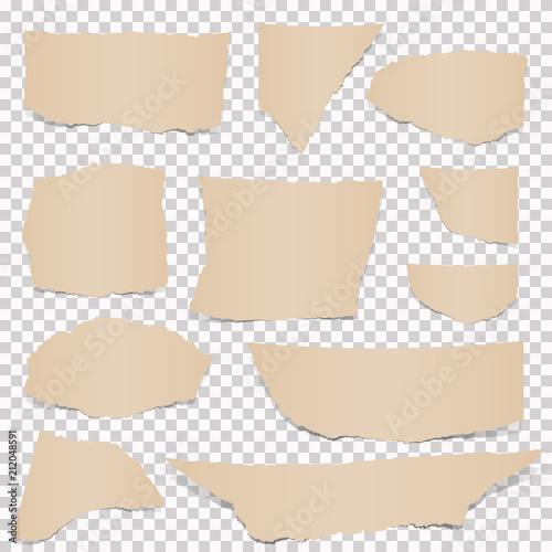 Fotografie, Obraz  collection of brown paper scraps