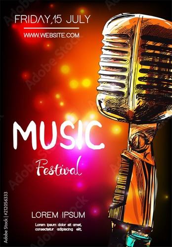 Plakaty Gatunki Muzyczne   vector-poster-for-music-festival