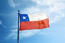 Chile Flag On The Mast