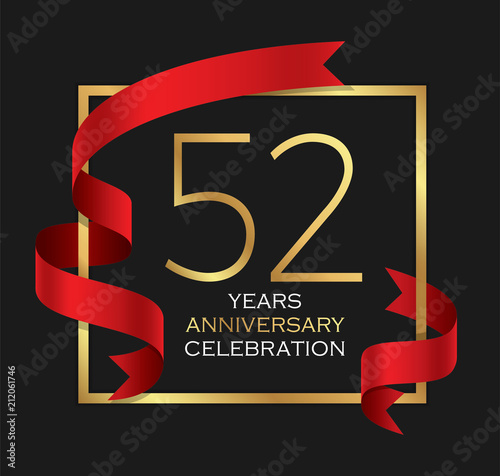 Fotografia  52nd years anniversary celebration background