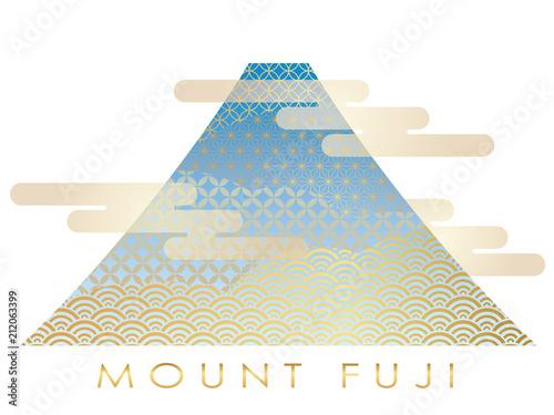 Obraz na plátně 富士山のイラスト