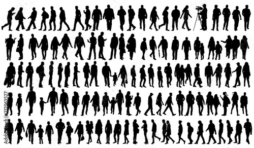 silhouette people go set - 212063527