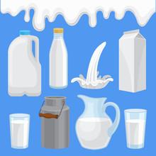 Milk Product In Various Contai...