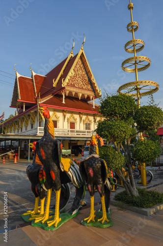 Poster Temple Wat Phanan Choeng temple in Ayutthaya, Thailand