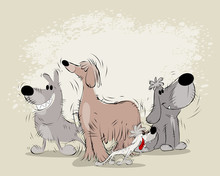 Group Of Cartoon Dogs
