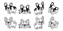 Dog Vector French Bulldog Icon Logo Cartoon Character Illustration Clip Art Symbol Black
