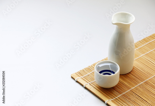 Fotografie, Obraz  japanese sake oriental drink style on the table