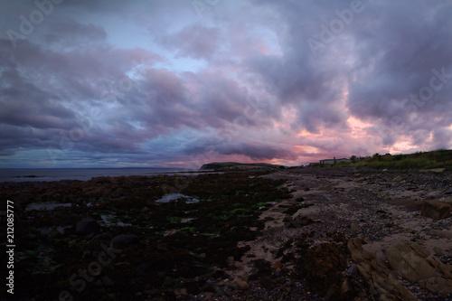 Sonnenuntergang in Balintore, Schottland Canvas Print