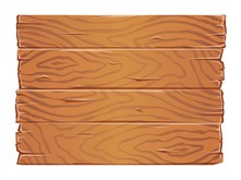 Wooden Boards Texture Clipart. Old Wooden Planks Side By Side. Flat Vector Illustration. Isolated On White Background.
