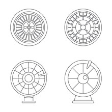 Roulette Wheel Fortune Icons S...