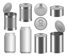 Tin Can Food Package Jar Mocku...