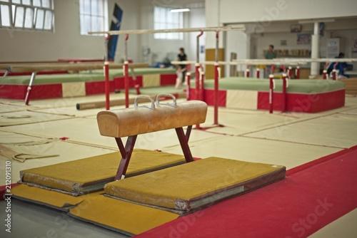 Montage in der Fensternische Gymnastik Gymnastics Hall