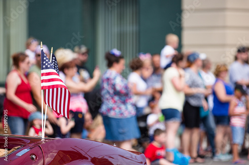Fototapeta American Flag, Fourth of July Parade