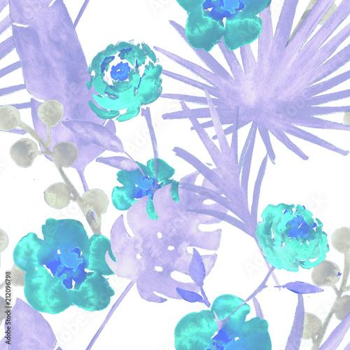 kontrast-turkusowy-niebieski-retro-egzotyczne-kwiatowy-akwarela-bezszwowe-wzor-tlo-przetargu-kobiece-tkaniny-z-bananem-lisci