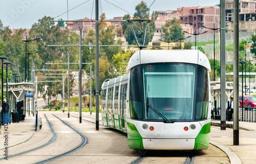 Staande foto Algerije City tram in Constantine, Algeria