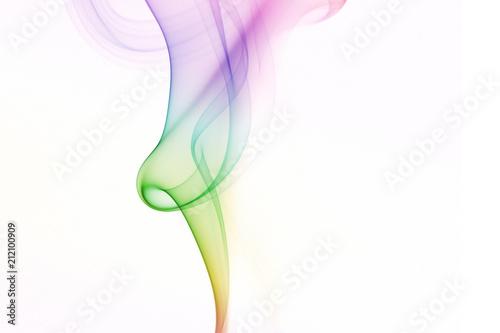 Fotografering  fumée couleurs arrière-plan abstrait