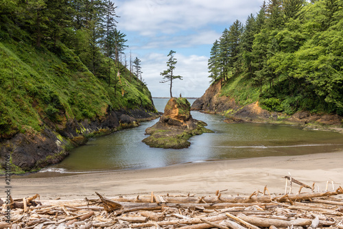 Deadman's Cove at Cape Disappointment in Washington, USA Fototapet