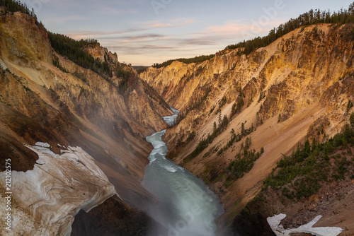 Staande foto Canyon Grand Canyon of Yellowstone National Park, USA