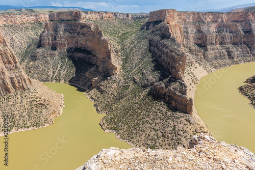 Tuinposter Canyon Devil's Canyon overlook at Bighorn Canyon National Recreation, Wyoming, USA