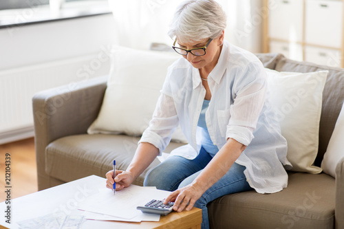 Pinturas sobre lienzo  business, savings, annuity insurance, age and people concept - senior woman with