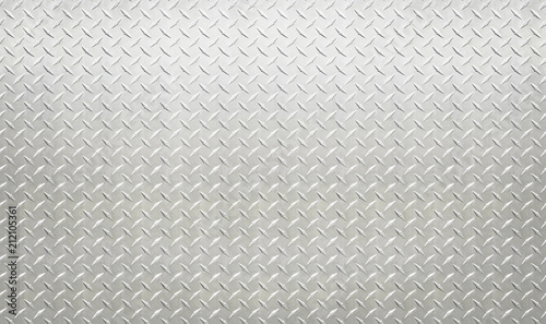 Photo sur Aluminium Metal White silver industrial wall diamond steel pattern background