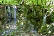 Waterfalls In Hajska Valley In National Park Slovak Karst, Slovakia