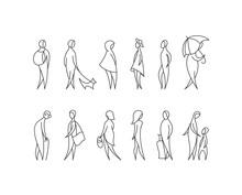 Vector Set Of Stylized People Figures