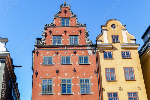Photo  Stortorget square in Old Town (Gamla Stan) in Stockholm, the capital of Sweden