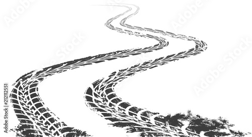 Fotografía  Winding tire track