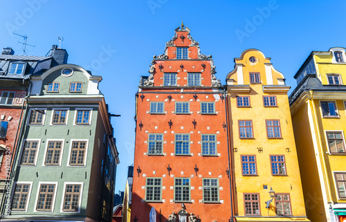 Stortorget square in Old Town (Gamla Stan) in Stockholm, the capital of Sweden Fototapet