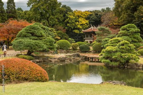 Deurstickers Asia land Japanese garden in Tokyo