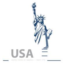 USA, Statue Of Liberty, Poster...